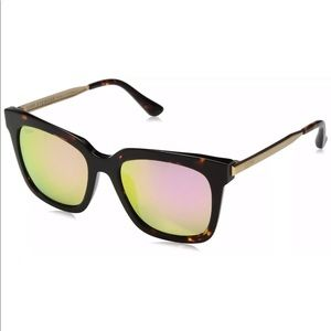DIFF EYEWEAR Bella tortoise and gold mirror lens